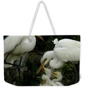 Great Egret Family 2 Weekender Tote Bag