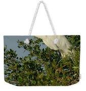 Great Egret In A Tree Weekender Tote Bag