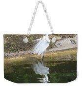 Great Egret In The Lake Weekender Tote Bag