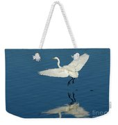 Great Egret Landing Weekender Tote Bag