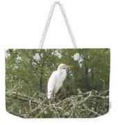 Great Egret Lookout Weekender Tote Bag
