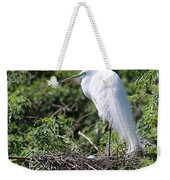 Great Egret Nest Weekender Tote Bag