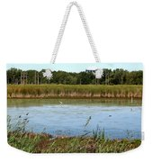 Great Egret On Berm Pond At Tifft Nature Preserve Buffalo New York Weekender Tote Bag