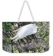 Great Egret On Nest Weekender Tote Bag