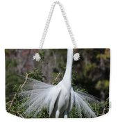 Great Egret Showoff Weekender Tote Bag