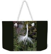 Great Egret Showoff Weekender Tote Bag