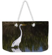 Great Egret Standing Out Weekender Tote Bag