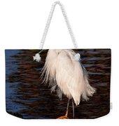 Great Egret Walking On Water Weekender Tote Bag