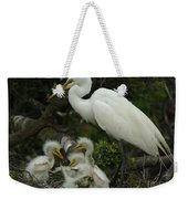 Great Egret With Young Weekender Tote Bag