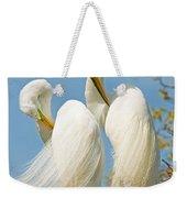 Great Egrets At Nest Weekender Tote Bag