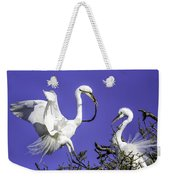 Great Egrets Nesting Weekender Tote Bag