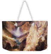 Great Falls Of Yellowstone Weekender Tote Bag by Thomas Moran