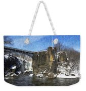 Great Falls Painted Weekender Tote Bag