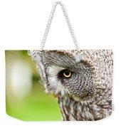 Great Gray Owl Close Up Weekender Tote Bag