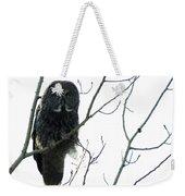 Great Grey Owl On The Lookout Weekender Tote Bag
