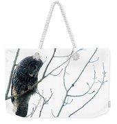 Great Grey Owl On Watch Weekender Tote Bag