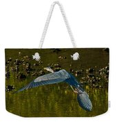 Great Heron Over Oyster Beds Weekender Tote Bag