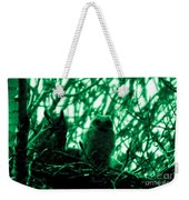 Great Horned Owl And Owlet Weekender Tote Bag