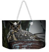 Great Horned Owl On Nest Weekender Tote Bag
