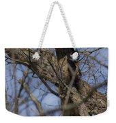 Great Horned Owl On Watch Weekender Tote Bag