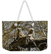 Great Horned Owlets Photo Weekender Tote Bag