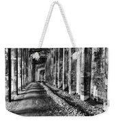 Great Northern Railroad Snow Shed - Black And White Weekender Tote Bag