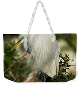 Great Egret Takes A Stance Weekender Tote Bag