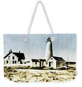 Great Point Lighthouse Nantucket Weekender Tote Bag