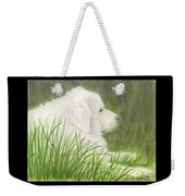 Great Pyrenees Dog In Grass Animal Pets Canine Art Weekender Tote Bag