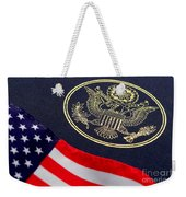 Great Seal Of The United States And American Flag Weekender Tote Bag