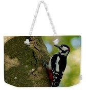Great Spotted Woodpecker Weekender Tote Bag