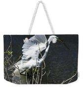 Great White Egret Building A Nest V Weekender Tote Bag
