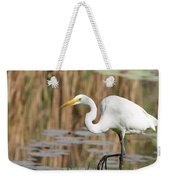Great White Egret By The River Too Weekender Tote Bag