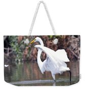 Great White Egret Fishing 1 Weekender Tote Bag