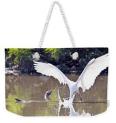 Great White Egret Fishing Sequence 2 Weekender Tote Bag