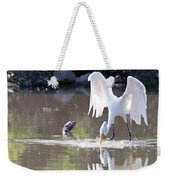 Great White Egret Fishing Sequence 4 Weekender Tote Bag