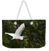 Great White Egret Flying 1 Weekender Tote Bag