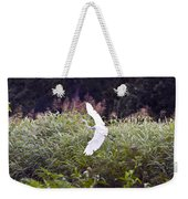 Great White Egret Flying 2 Weekender Tote Bag