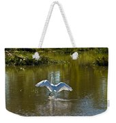 Great White Egret In Sunlight Weekender Tote Bag