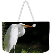 Great White Egret In The Tree Weekender Tote Bag