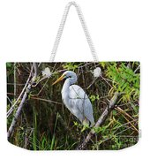 Great White Egret In The Wild Weekender Tote Bag