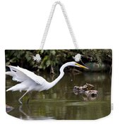 Great White Egret Looking For Fish 1 Weekender Tote Bag