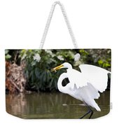 Great White Egret Show Off Weekender Tote Bag