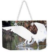 Great White Egret Splash 1 Weekender Tote Bag
