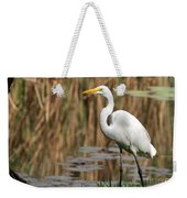 Great White Egret Taking A Stroll Weekender Tote Bag