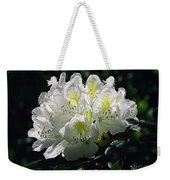 Great White Rhododendron Weekender Tote Bag