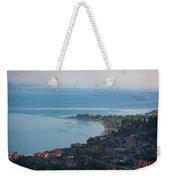 Greece. The Rioantirrio Bridge Weekender Tote Bag