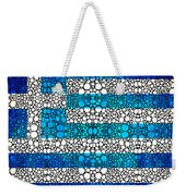 Greek Flag - Greece Stone Rock'd Art By Sharon Cummings Weekender Tote Bag