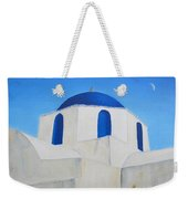 Greek Island Church  Weekender Tote Bag