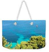 Greek Sea View Weekender Tote Bag